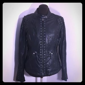 HARLEY DAVIDSON Black Leather Angel Riding Jacket